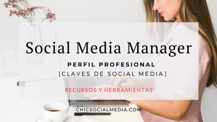 Chic Social Media Blog. Social Media Manager. Perfil Profesional.